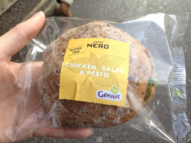 Grabbing a sarnie on the go, just like the 'normal' people...