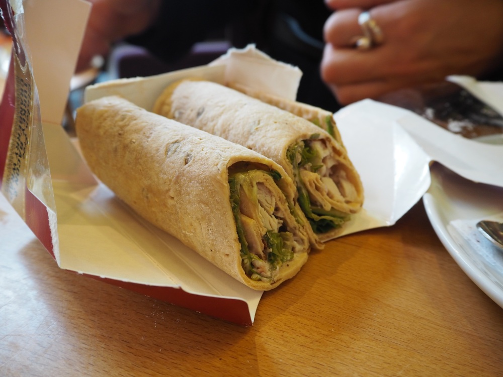Costa coffee gluten free Christmas wrap