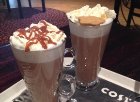 Christmas coffees at Costa Coffee – what's gluten free?