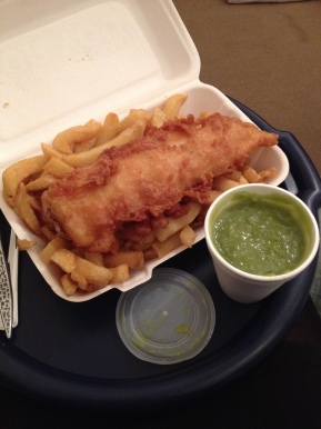Gluten free fish and chips at Starfish, Barnstaple