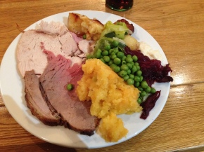 Gluten free carvery at The Riverbank, Bideford