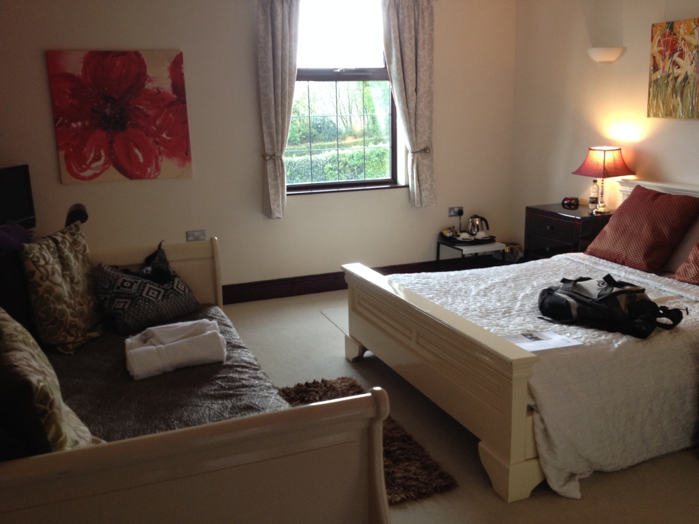 Our lovely room at Redhill Hotel, Bristol.