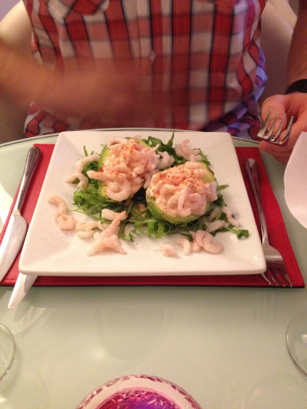 Steve's prawn cocktail and avocado starter.