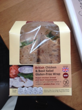Gluten free chicken wrap from Costa Coffee