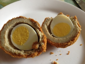 Gluten free scotch eggs from Marks and Spencer