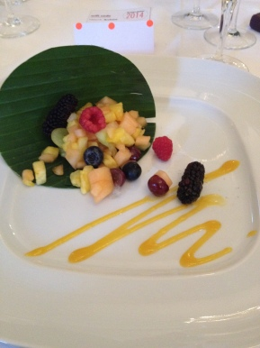 Eating gluten free at awards dos: bring on the fruitsalad…