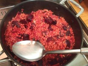 Gluten free garlic roasted beetroot and caramelised fennel risottorecipe