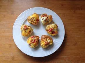 Gluten free, low carb heart-shaped egg muffins