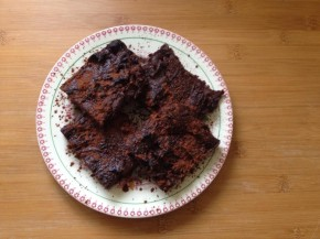 Gluten free gooey sweet potato brownies