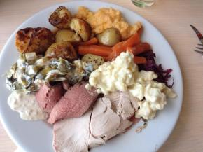 Gluten free carvery at The Pier House, WestwardHo!