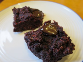 Chocolate and beetroot fudgy brownies – gluten free, dairy free and egg free