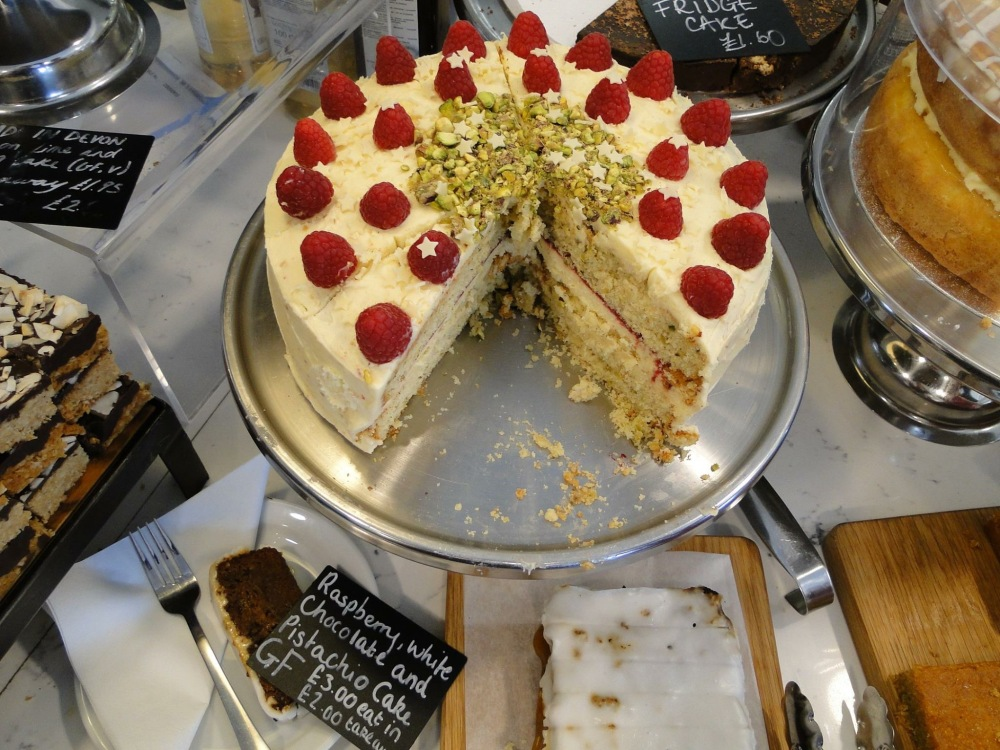 gluten free white choc and pistachio cake johns of instow