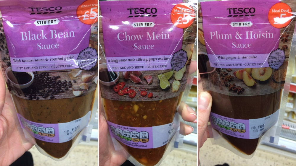 gluten free chinese sauces tesco